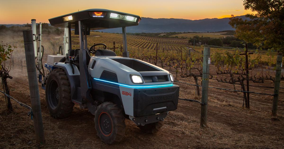 Electric, autonomous Monarch Tractor is billed as the world's smartest