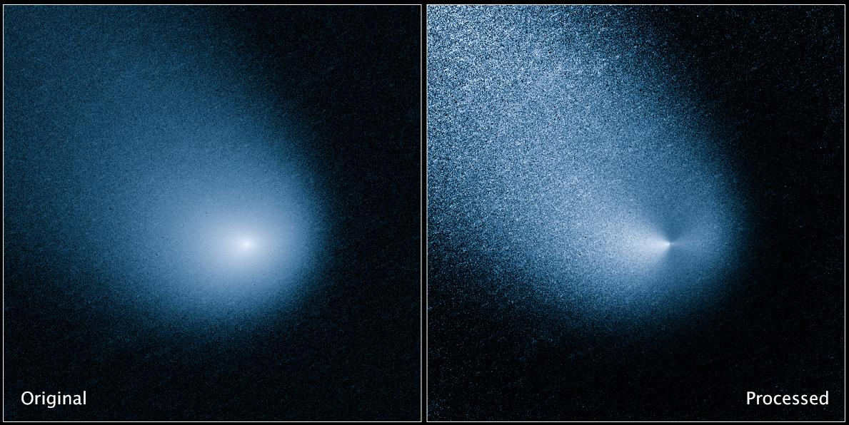 Comet C/2013 A1 as seen by the Hubble telescope (Image: NASA, ESA, and J.-Y. Li (Planetary Science Institute) )