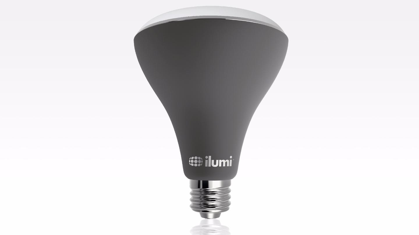 The new smart bulb, known as the BR30, can work together with the company's indoor lighting to provide a comprehensive solution