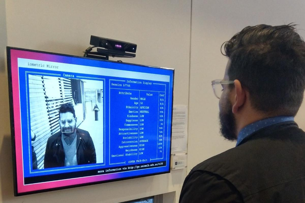 The Biometric Mirror demonstrates how human bias can dramatically influence facial recognition systems