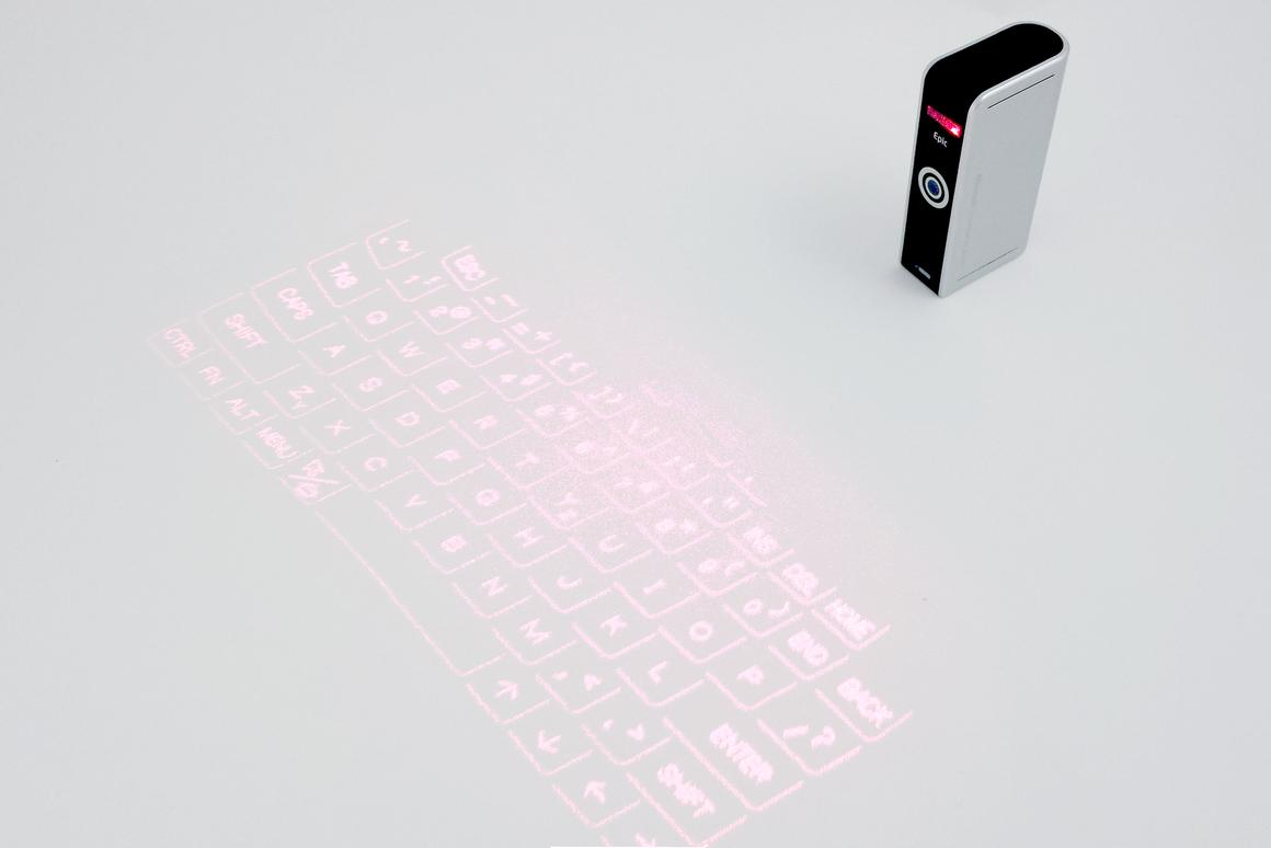 Gizmag review the Celluon Epic, a projection keyboard for your smartphone, tablet, or PC
