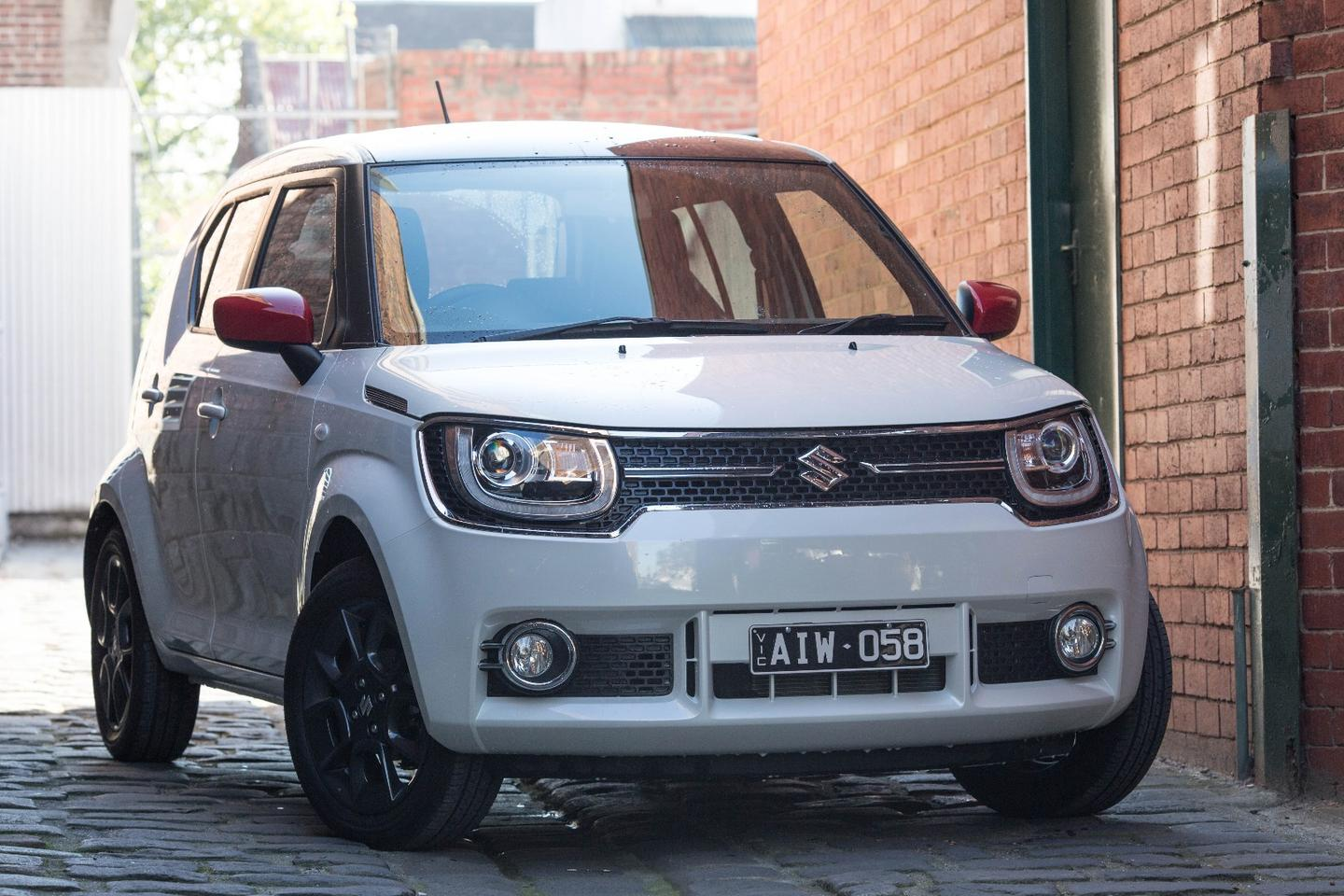 The cheery Suzuki Ignis is powered by a 1.2-liter four-cylinder engine