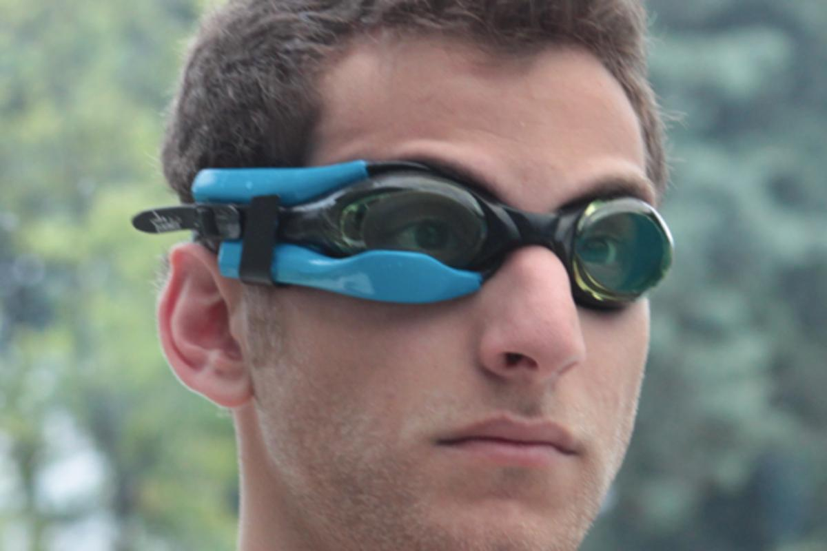 Instabeat is a heart rate-monitoring device for swimmers, that displays data within their goggles