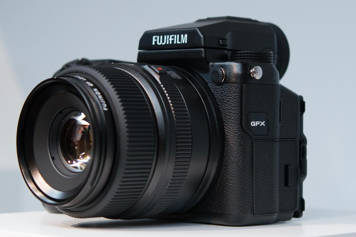 The Fujifilm GFX 50S mirrorless medium format camera