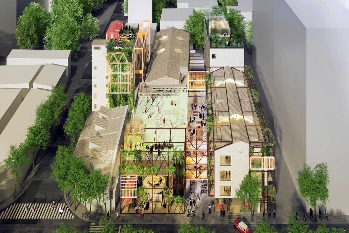 A group of six buildings will be transformed to include a series of living clusters made up of two to 10 units each, featuring communal living and kitchen zones