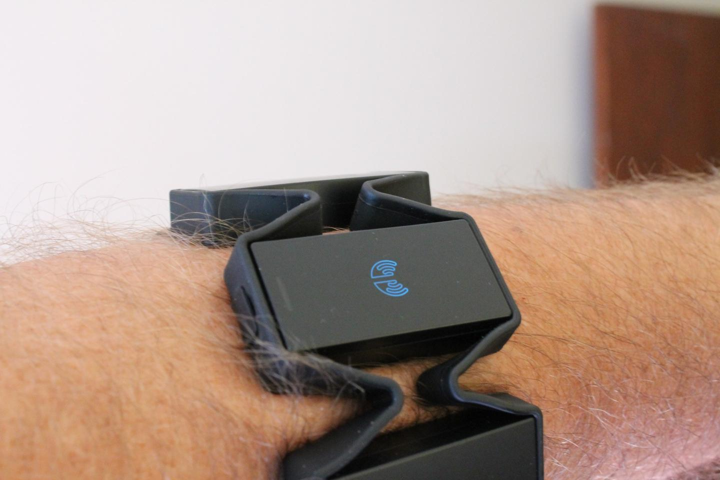 Myo measures electrical muscle activity to read certain gestures
