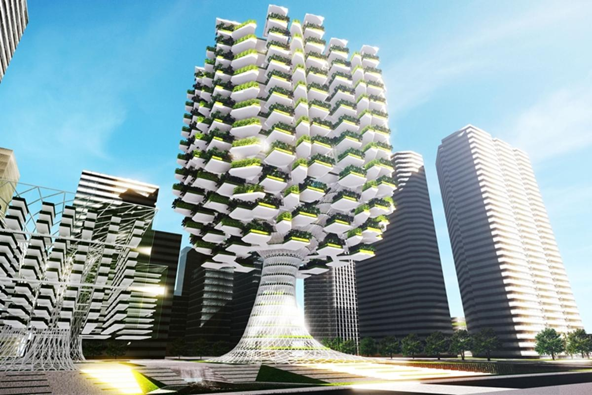 Aprilli Design Studio has created a concept for an Urban Skyfarm