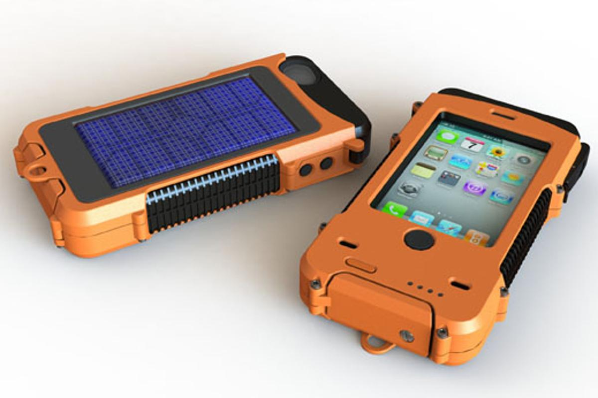 The AQUA TEK S case offers ruggedized protection and a solar panel for charging its own built-in battery
