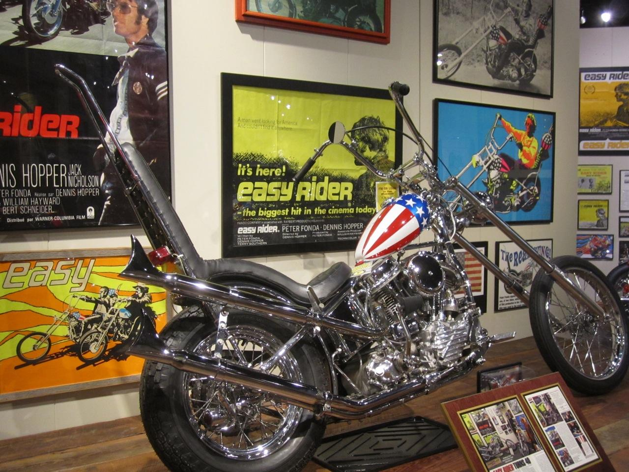 The Captain America machine has spent quite some time on display at the National Motorcycle Museum in Anamosa, Iowa and this image is courtesy of the museum.