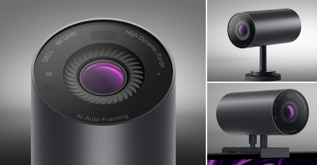 The UltraSharp Webcam comes with magnetic mount and tripod adapter for placement versatility