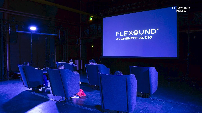 Flexound Pulse user testing, where each movie watcher was immersed in their own personal surround sound audio zone
