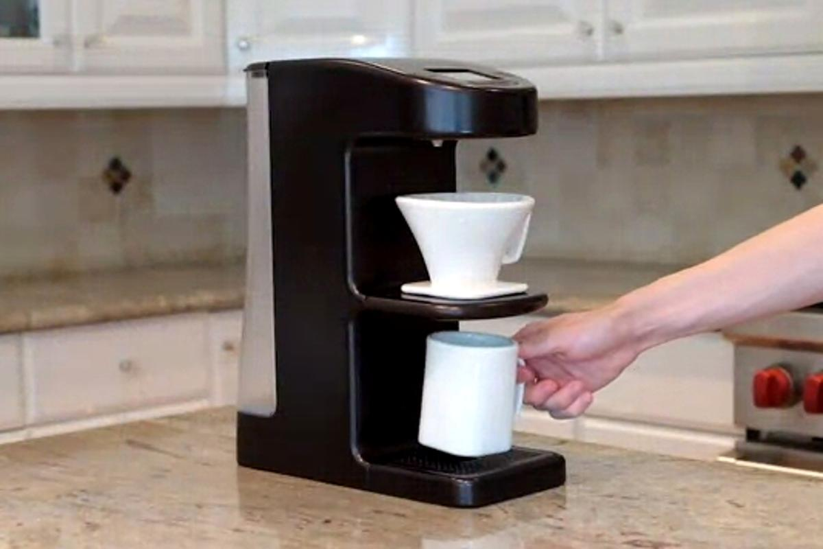 Invergo is a new home-use pour-over coffee-maker
