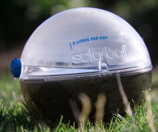 The Solarball is a student-designed device that creates clean drinking water through evaporation and condensation (All photos courtesy Monash University)