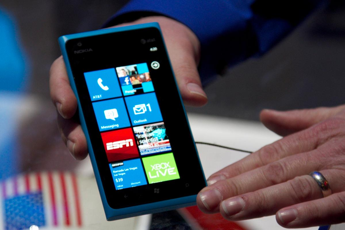 The Nokia Lumia 900, announced at CES this week, includes 4.3 inches of AMOLED touchscreen