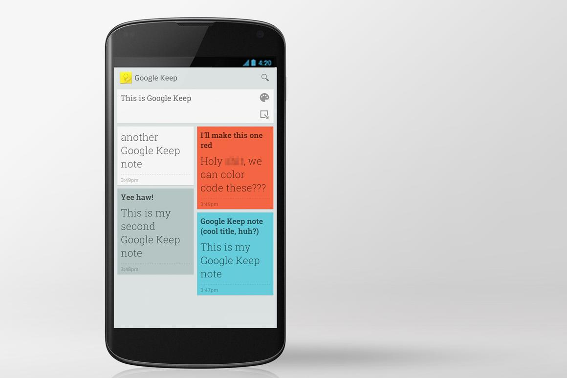 Today Google pulled back the curtain on its Google Drive note-taking service, Keep