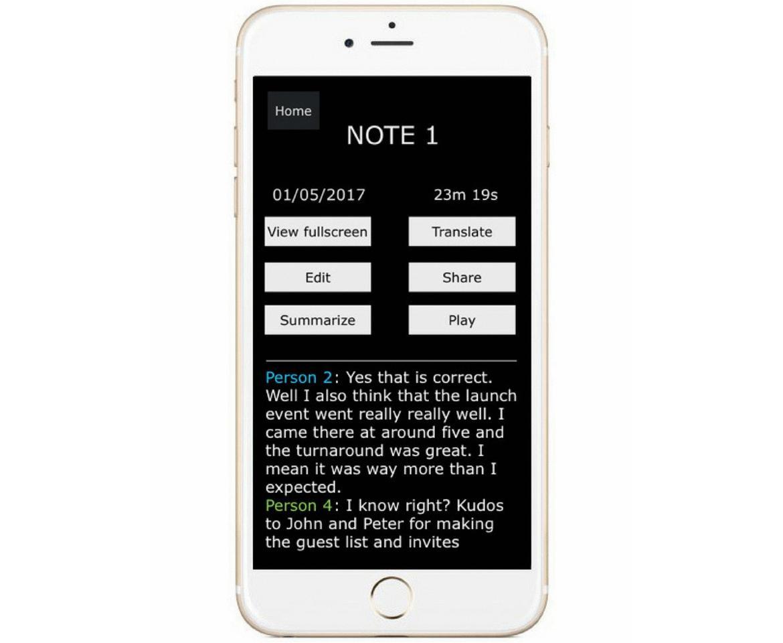 The Titan Note app