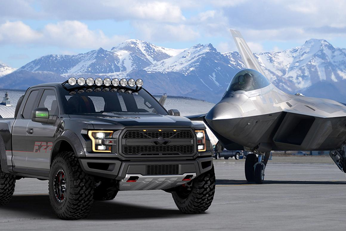 The F-22 Raptor F-150 was designed to tie visually with the Lockheed F-22 while highlighting key features of the truck