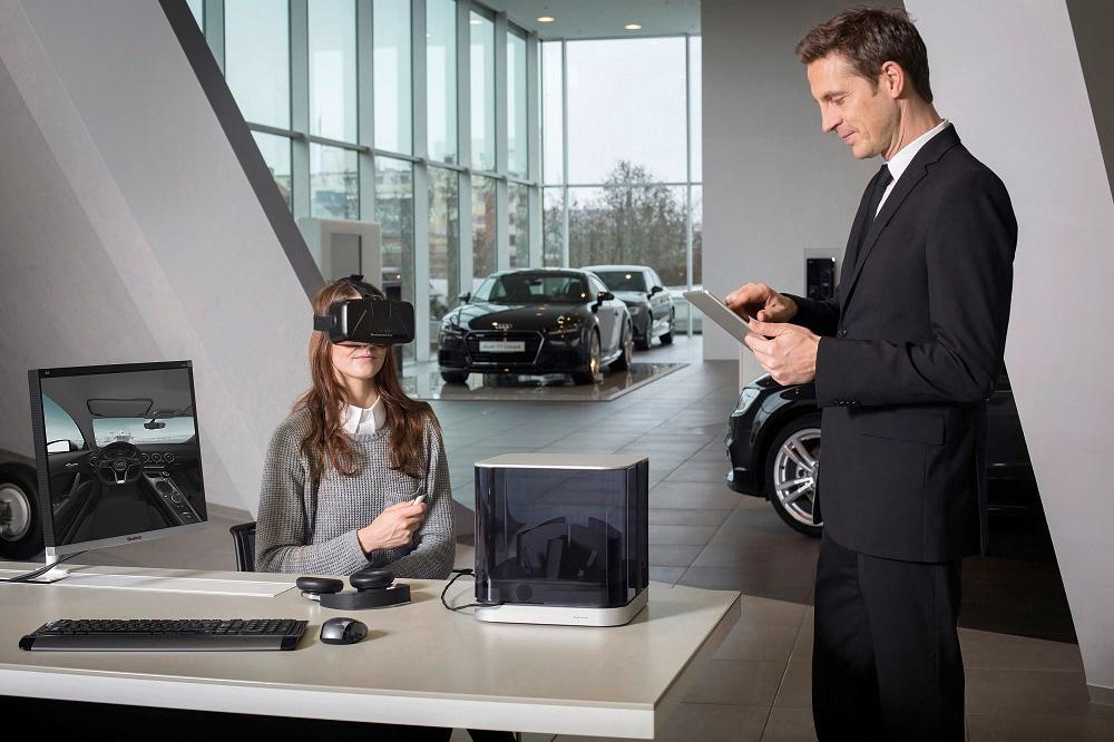 Audi is using virtual reality headsets at dealerships to help customers configure their cars