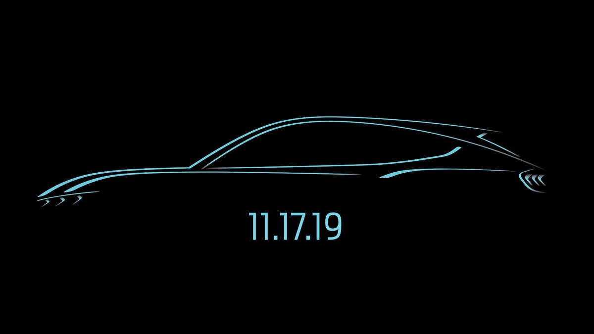 Ford teases the LA Auto Show debut of its all-new electric crossover, inspired by Mustang