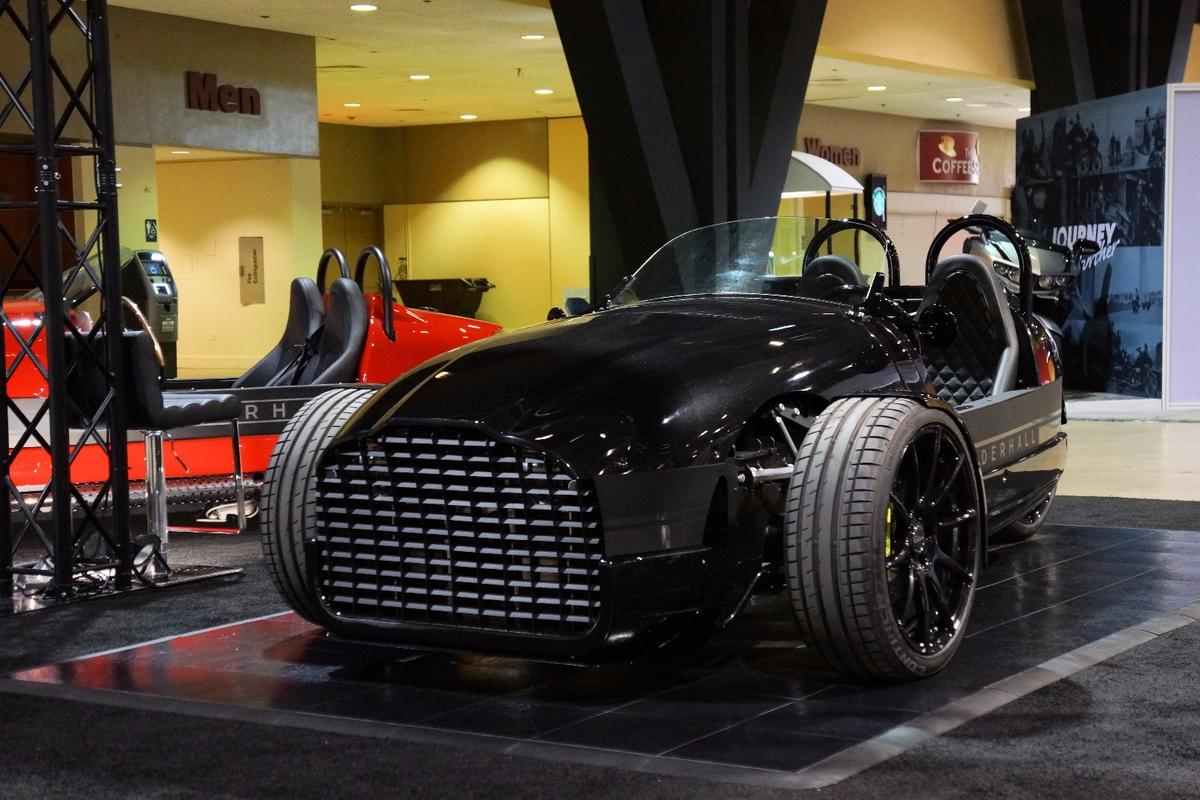 The Vanderhall Edison2 debuted at the 2017 Progressive International Motor Cycle Show in Long Beach, California