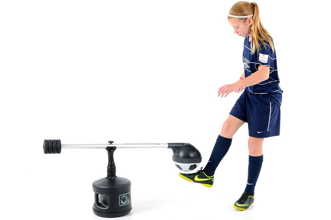 Zero G Soccer is a training aid designed to help youngsters learn how to juggle a football