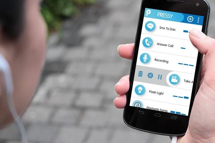 Pressy's app will also work with headphone buttons