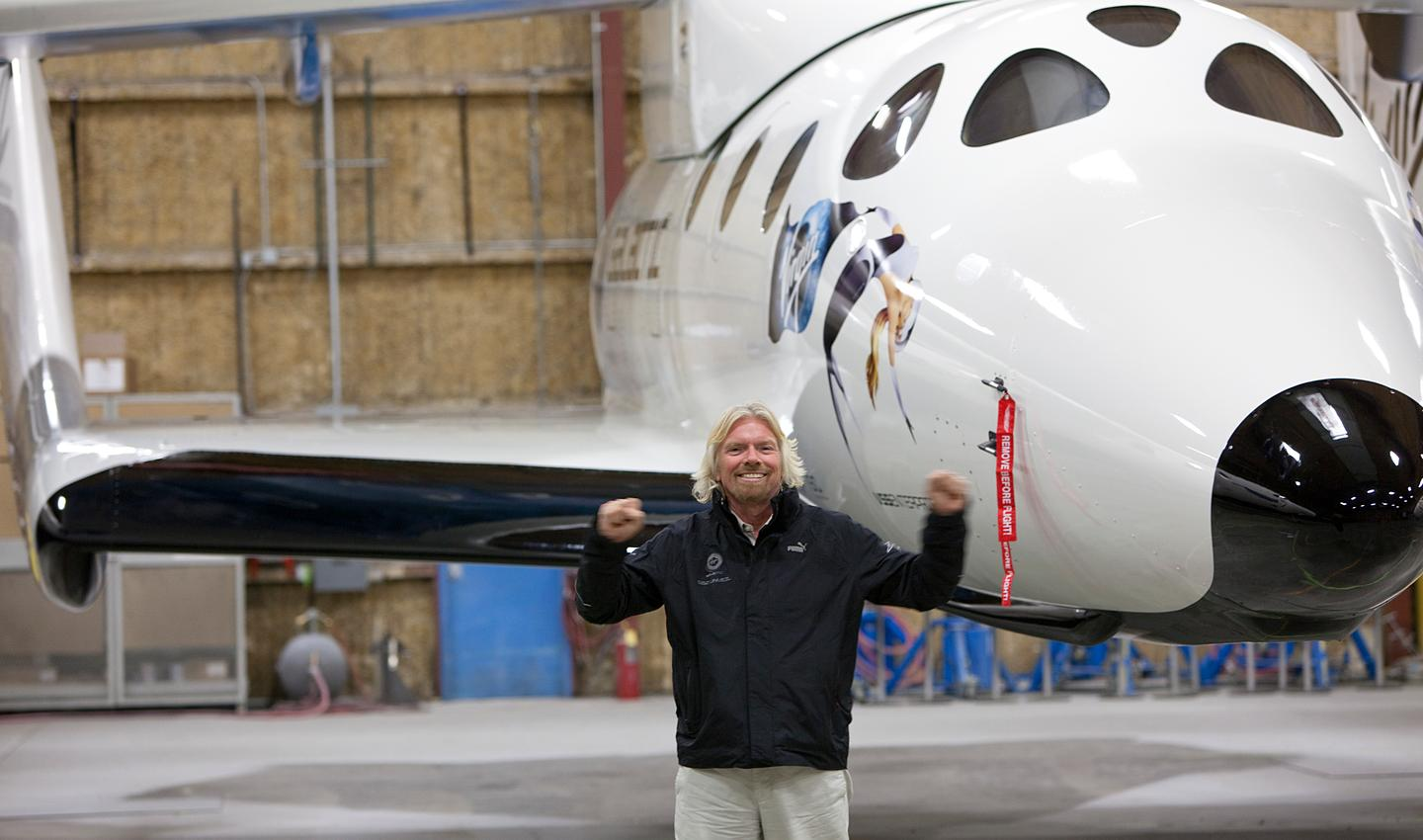 Sir Richard Branson with VSS Enterprise