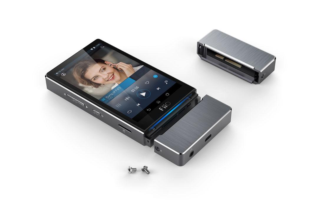 The Fiio X7 comes supplied with a high end amplifier, but audiophiles can swap that out for a different module if desired