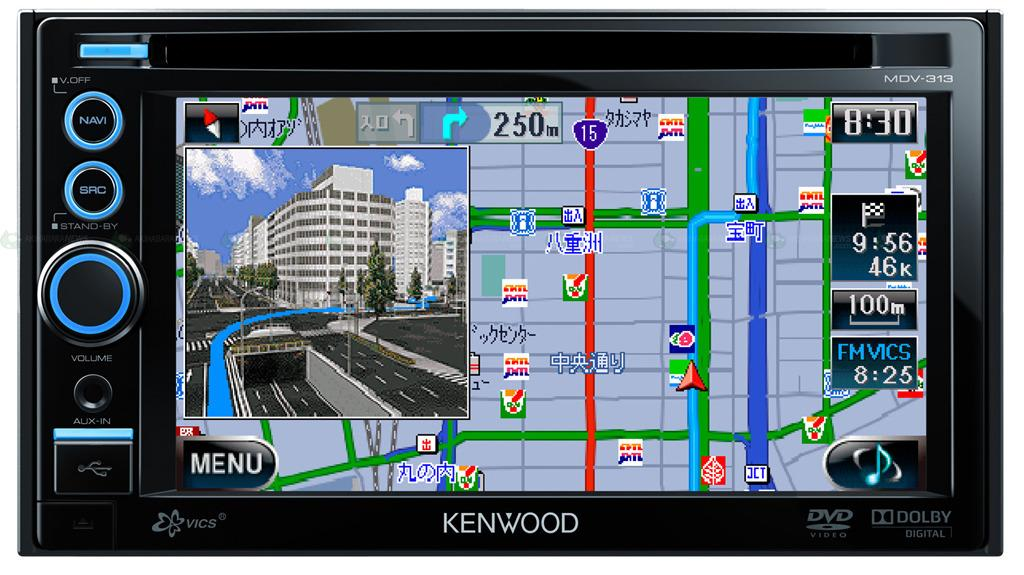 The JVC Kenwood AVENUE MDV-313 in-car multimedia navigation system.