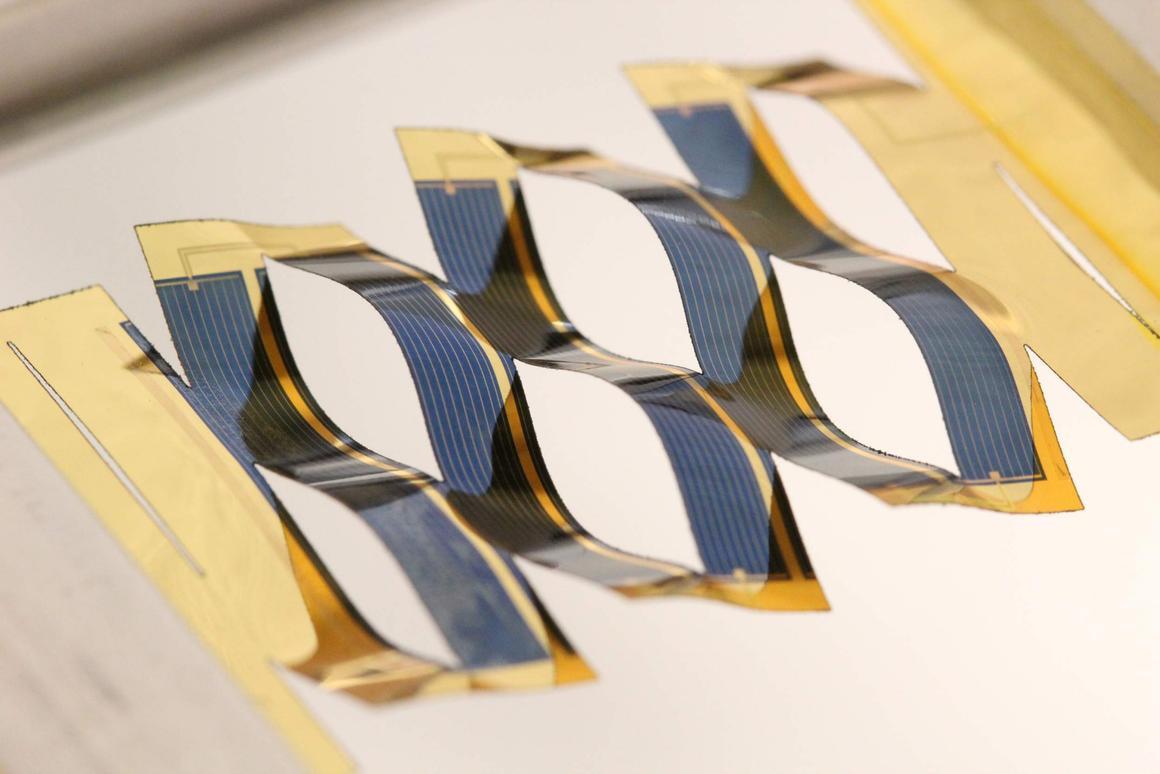 The University of Michigan's twisting solar cells