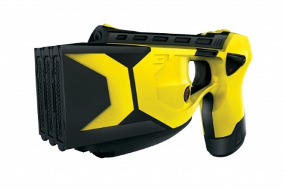 The Taser X3 has enhanced power ... enough to disperse more than 300 five-second firings across all bays