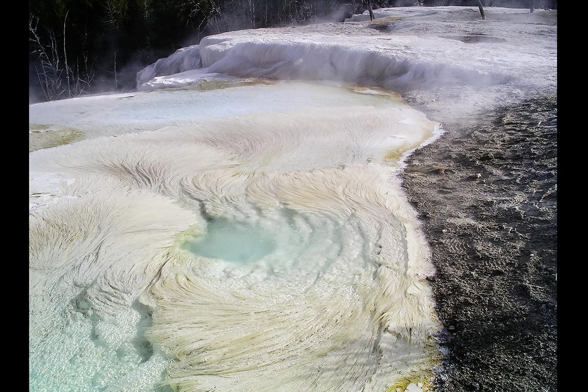 Filamentous rocks, like these seen at Yellowstone National Park, are created by strands of bacteria, and may be a clear indicator of microbial life on other planets