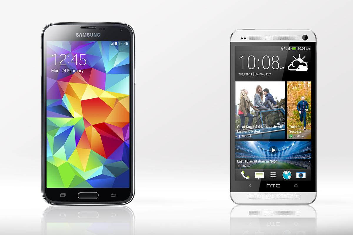 Gizmag compares the features and specs of the Samsung Galaxy S5 and 2013 version of the HTC One