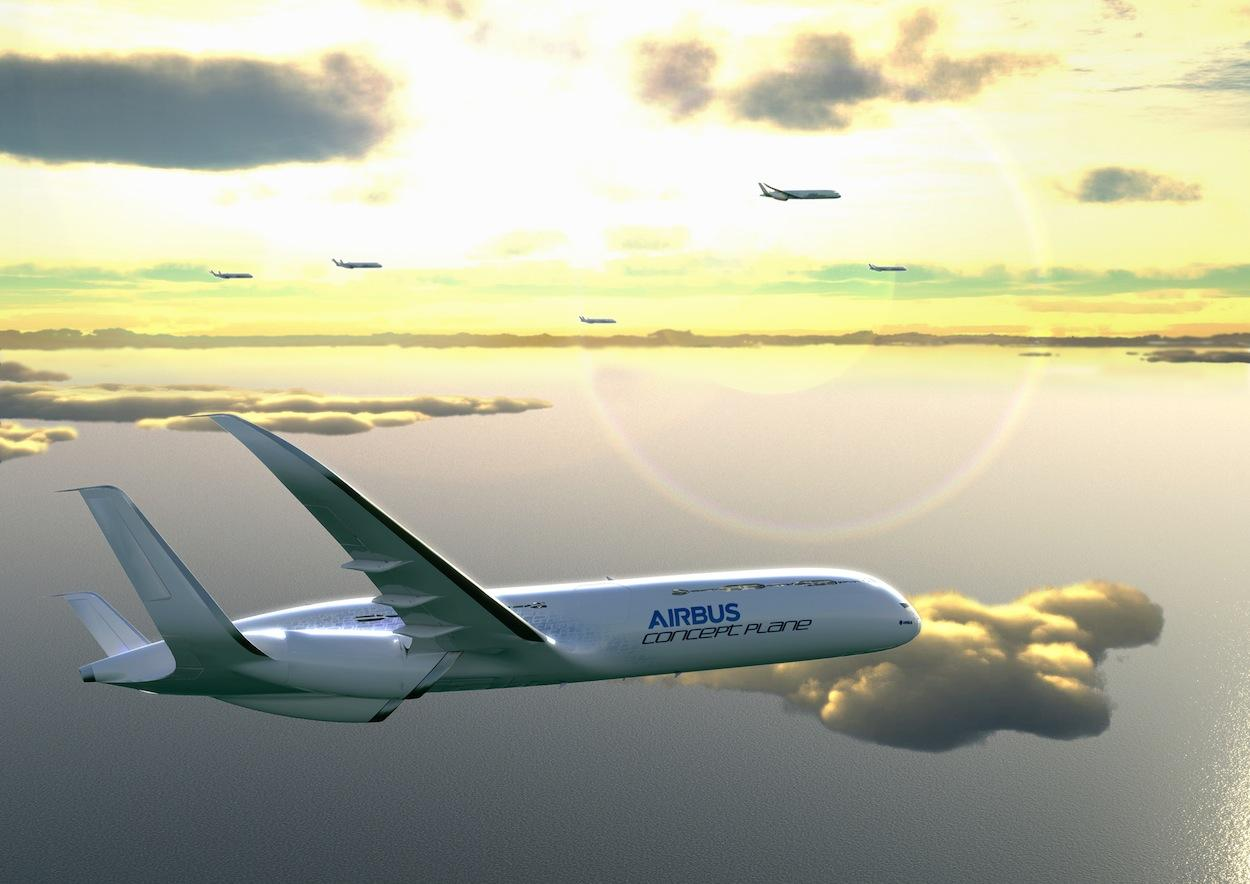 Airbus enthused the benefits of a free-glide approach to airports