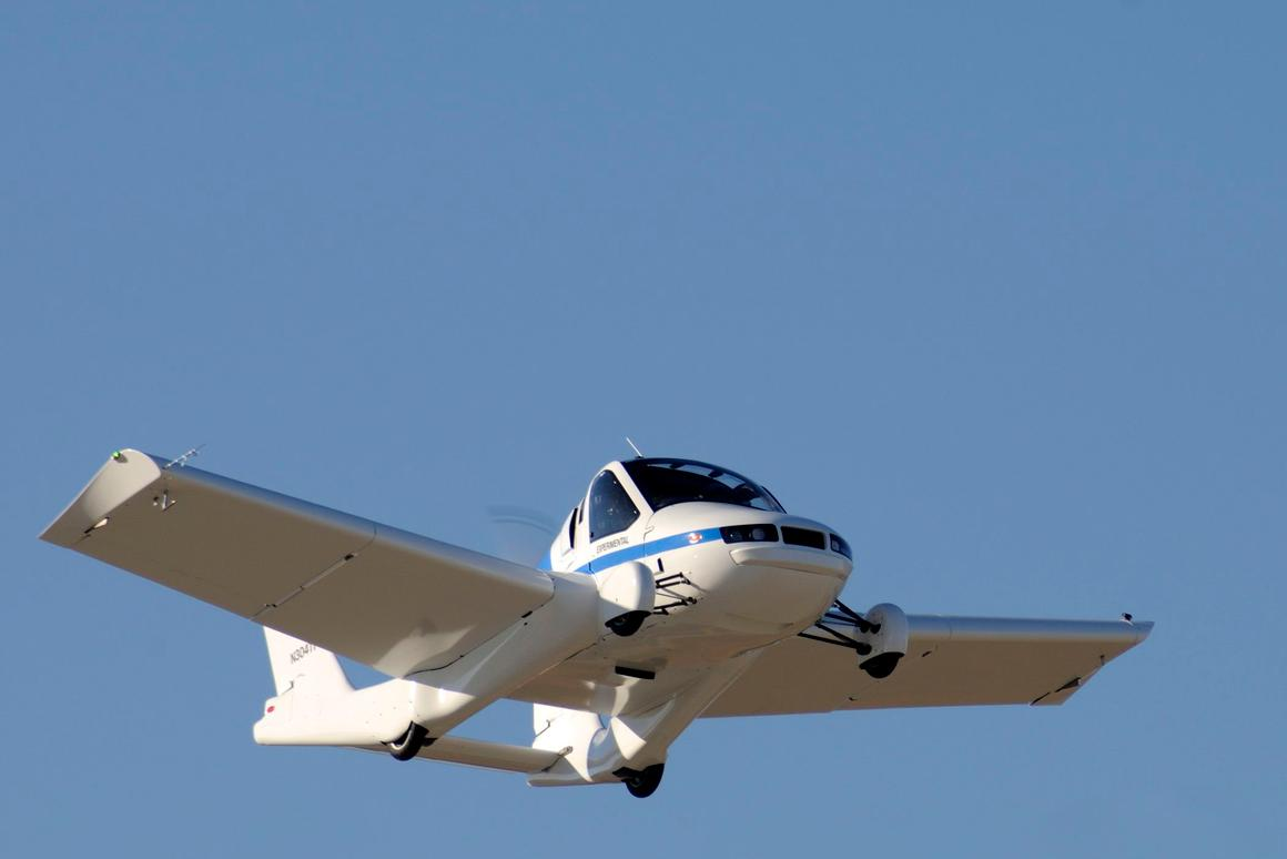 The production prototype of Terrafugia's Transition Street-Legal Airplane has successfully completed its first flight