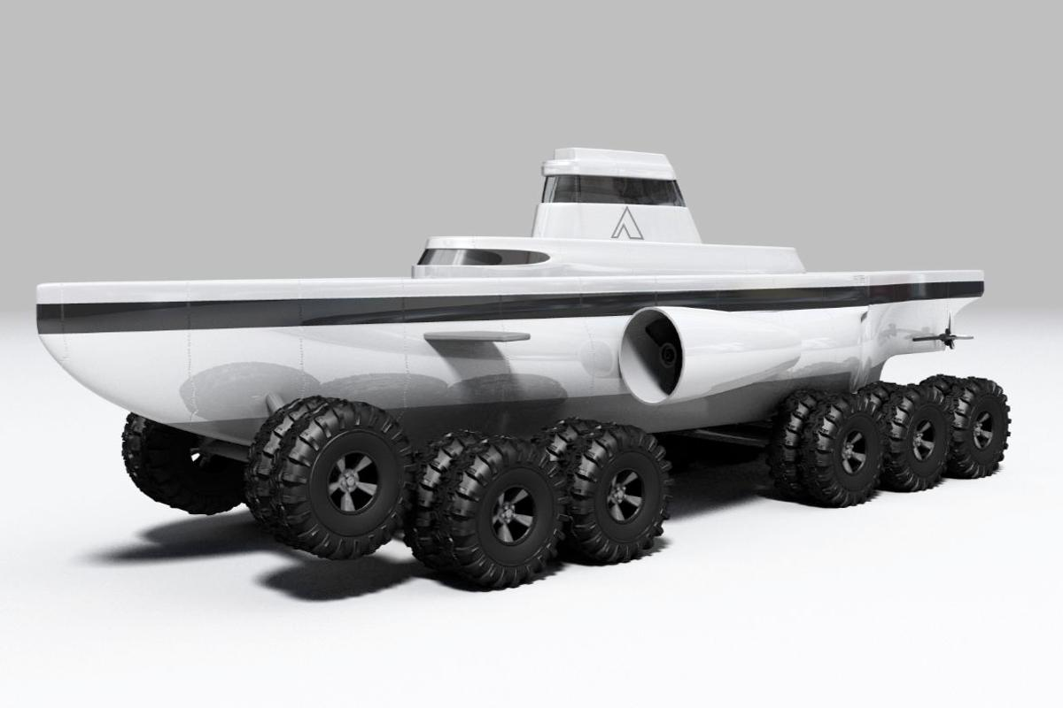Philip Pauley's proposed Pathfinder submarines would be able to crawl along the sea floor, or move through the water when necessary