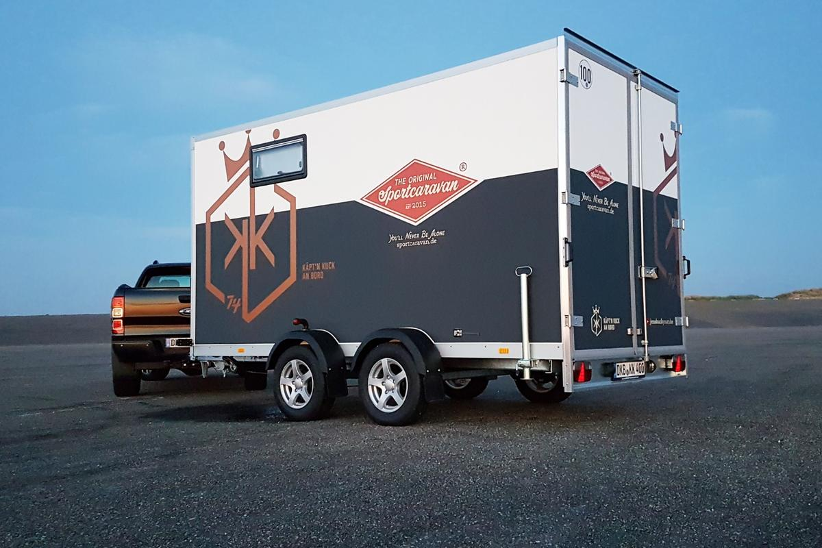 Sportcaravan presents its own spin on the toy hauler