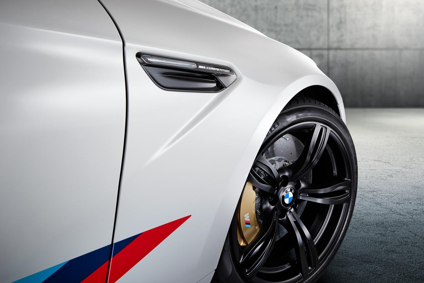 The BMW M6 Coupe Competition Edition is available in Alpine White or Austin Yellow metallic