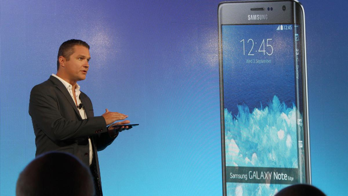 Samsung announcing the Galaxy Note Edge in NYC (Photo: Will Shanklin/Gizmag.com)