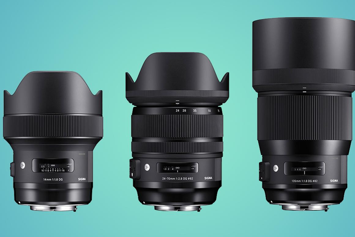 Sigma has announced three new full frame lenses for its Art line-up