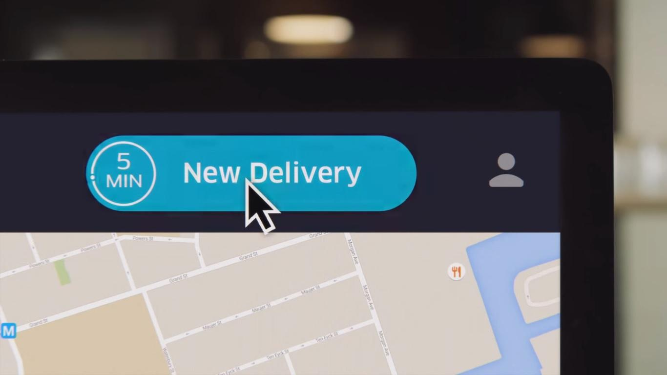 Once a customer places an order, UberRUSH allows a company to schedule the delivery at a specific time so as to avoid bottlenecks during busy periods