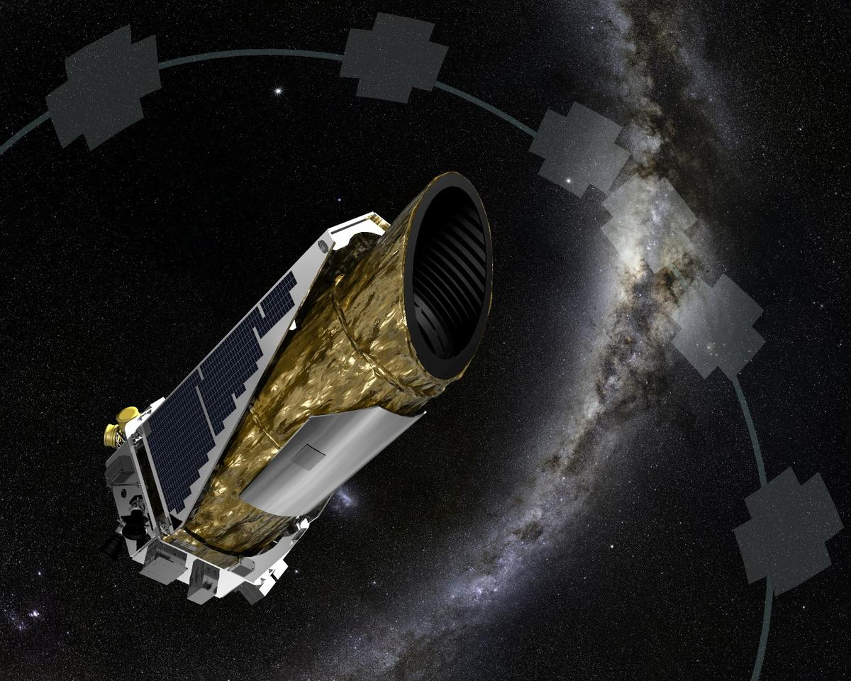 Artist's impression of the Kepler Spacecraft