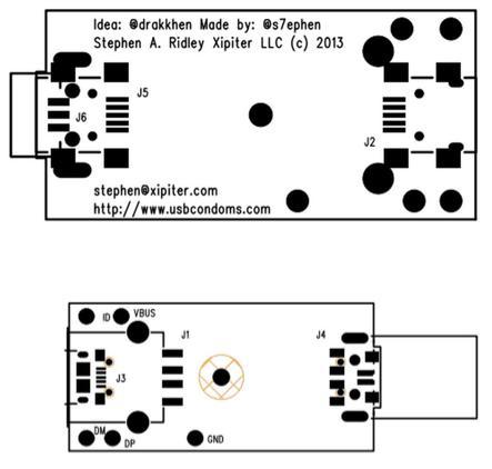 USBCondom schematic