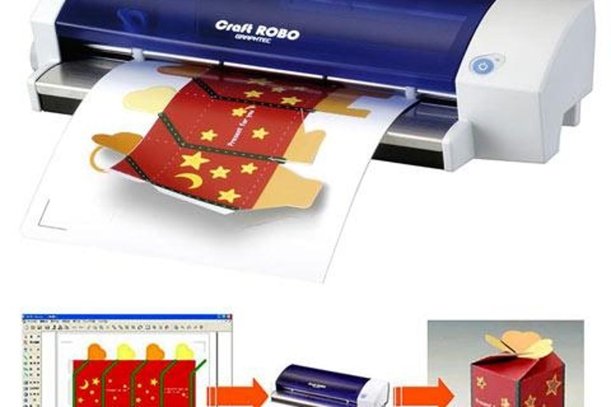 Craftrobo Desktop Cutter Enables Four Colour Origami And Complex Stickers