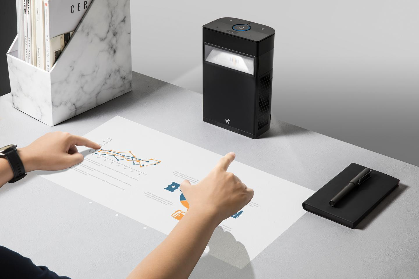 The touch display system can track up to 10 touch points