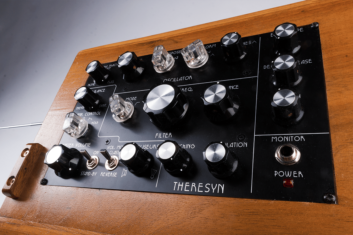 The Theresyn is a hybrid of a traditional theremin and an analog synthesizer, with a few extra twists