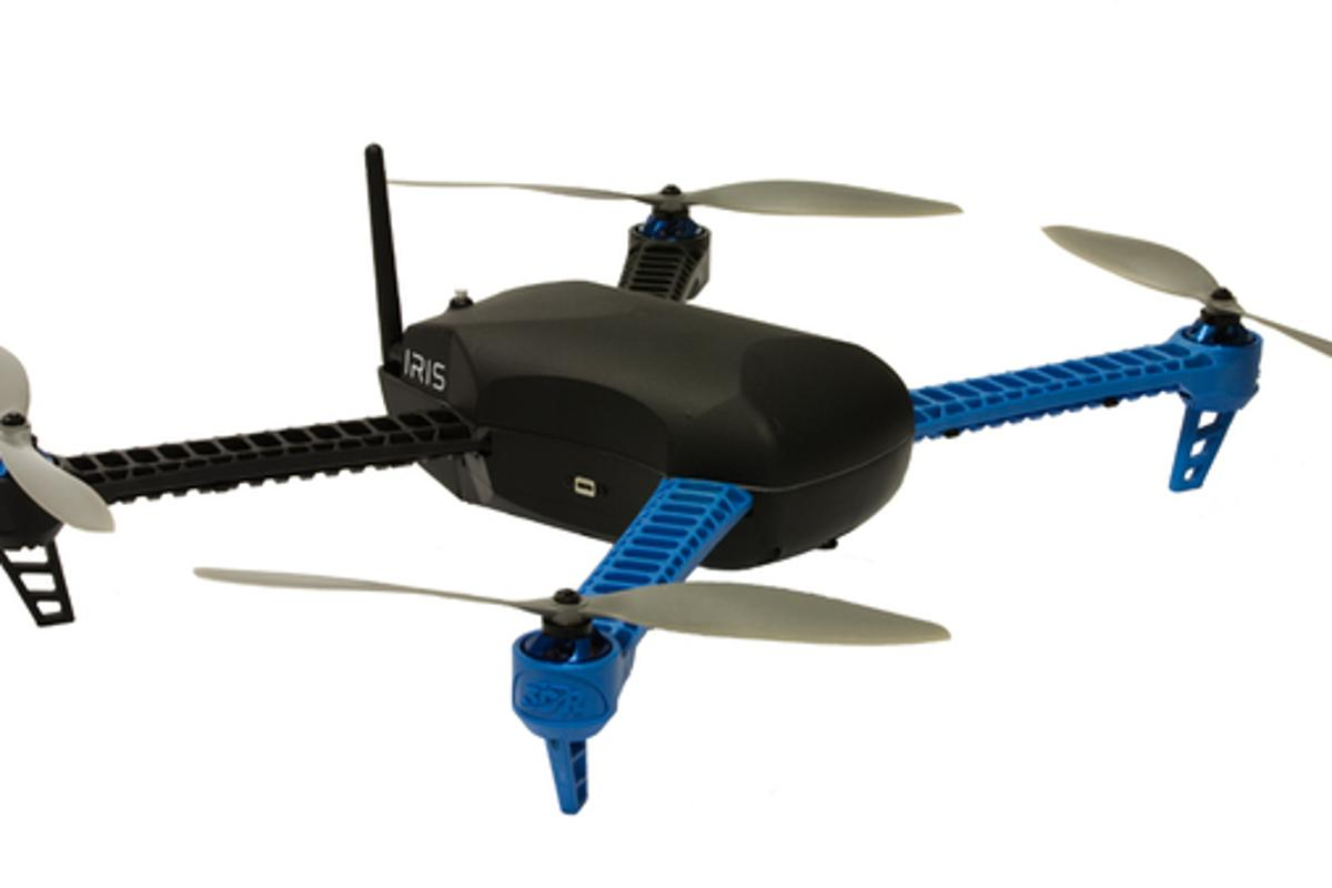 3D Robotics has unveiled the Iris, a new drone that's fully assembled straight out of the box and supports simple GPS controls through any computer or smart device