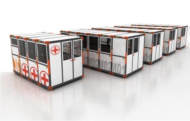 The Modularflex folding emergency shelter