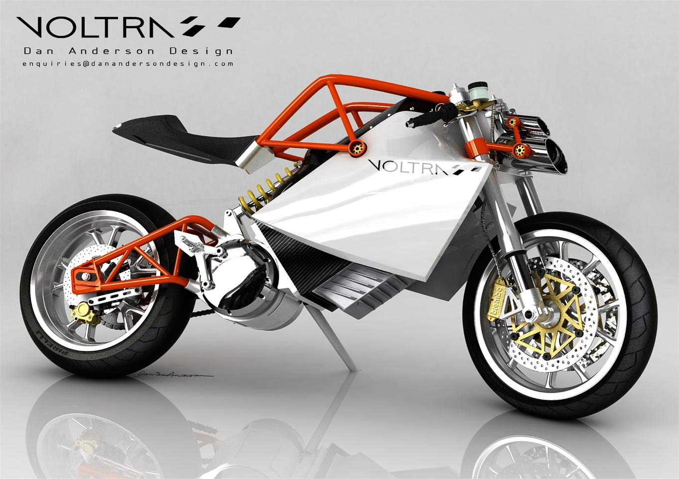The Voltra electric motorcycle design, by Dan Anderson.