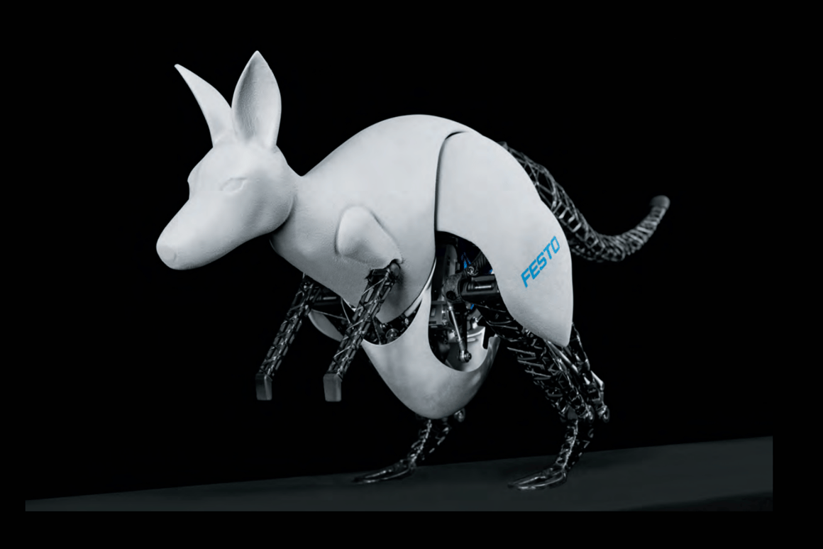 Festo's BionicKangaroo is able to store energy from the landing phase of a jump and reuse it efficiently for more jumps (Image: Festo)